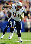 19 October 2008:  San Diego Chargers' center Nick Hardwick blocks for wide receiver Vincent Jackson in the third quarter against the Buffalo Bills at Ralph Wilson Stadium in Orchard Park, NY. The Bills defeated the Chargers 23-14 and maintain their first place position in the AFC East with a 5 and 1 record...Mandatory Photo Credit: Ed Wolfstein Photo