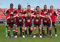 05 May 2012: The D.C. United starting eleven during an MLS game between DC United and Toronto FC at BMO Field in Toronto..D.C. United won 2-0.