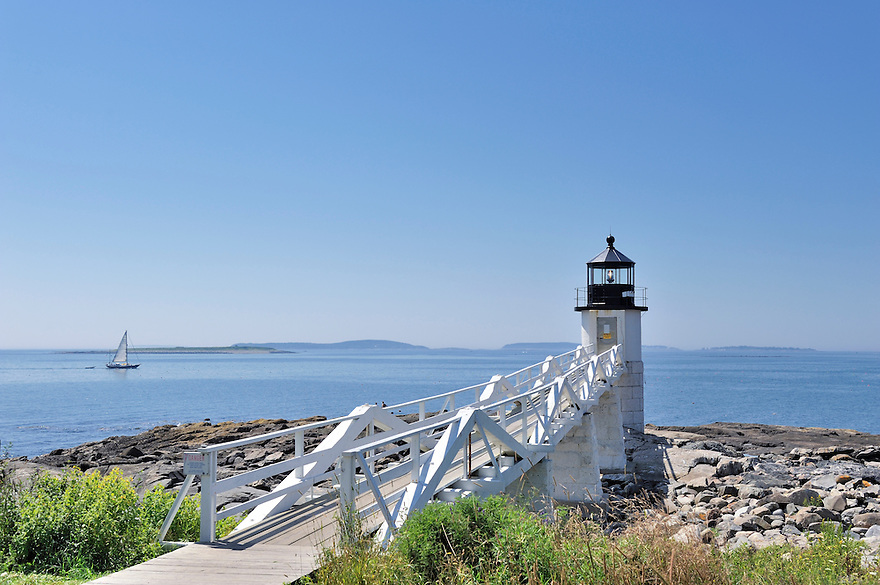 Marshall Point Lighthouse, Port Clyde, Maine, USA