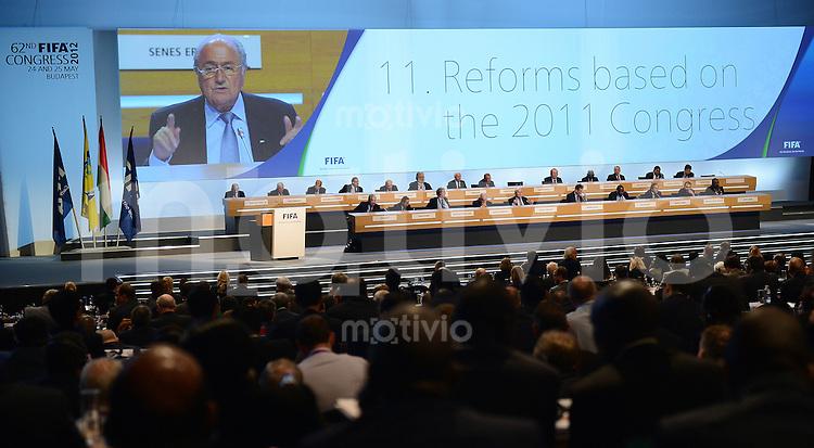 Fussball International  62. FIFA  Kongress in Budapest 2012    25.05.2012 Der Kongress diskutiert Reformen;  FIFA Praesident Joseph S. Blatter (Schweiz)
