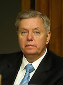 United States Senator Lindsey Graham (Republican of South Carolina), listens as General John R. Allen, USMC, Commander, International Security Assistance Force and Commander, United States Forces Afghanistan, testifies on the situation in Afghanistan before the U.S. Senate Armed Services Committee on Capitol Hill in Washington, D.C. on Thursday, March 22, 2012..Credit: Ron Sachs / CNP