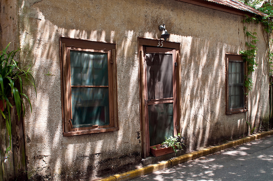 Old house in St. Augustine, Florida. St. Augustine is a very popular tourist destination in Florida.