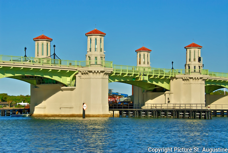 Of the bridge of lions drawbridge in historic st augustine florida