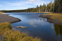 Yellowstone National Park in Wyoming. The park was the first of its kind, and is known for its wildlife and its many geothermal features, especially Old Faithful Geyser, one of the most popular features in the park (wiki 2009)