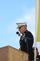 Major General Thomas D. Waldhauser, USMC Commanding General 1st Marine Division addresses the audience at the Mount Soledad Veteran's Memorial, La Jolla California on Saturday, November 10 2007.  Waldhauser gave the keynote address at a Veteran's Day Ceremony.