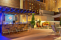 The outdoor bar at the DoubleTree by Hilton hotel in Milwaukee, WI.