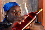 Gladis Antoine, a voodoo priestess, or mambo, performs a ceremony in Mizak, a small village in the south of Haiti.