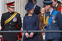 UK Royal family members attend Afghanistan Commemoration Service - London
