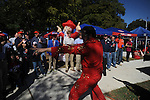 Ole MIss fans in the Grove before the Mississippi vs. Auburn college football game on Saturday, October 30, 2010. (AP Photo/Oxford Eagle, Bruce Newman)