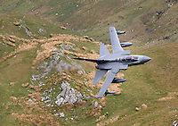 Tornado GR4 fighter jet at Cad West in Wales. The low flying area provides good hunting grounds for plane spotters.