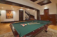Stock photo of family game room