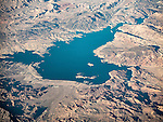 Lake Mead, Nevada, from a window seat.