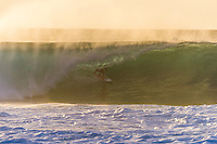 Off The Wall, North Shore, Oahu, HAWAII: (Saturday, December 5, 2015): Danny Fuller (HAW)<br /> The swell seemed to build slowly through the morning and then around mid afternoon built very quickly from the NW late in the afternoon. Third Reef was breaking on dark. Photo: joliphotos.com
