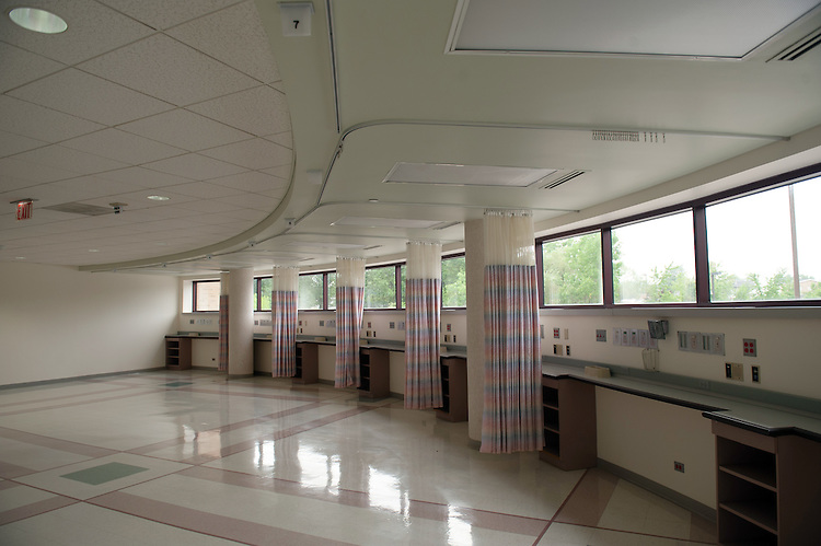 These rooms at Southpointe Hospital will be rennovated and used to help train Ohio University Heritage College of Osteopathetic Medicine students.