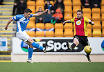 St Johnstone v Partick Thistle&hellip;29.10.16..  McDiarmid Park   SPFL<br />Michael Coulson&rsquo;s shot goews wide<br />Picture by Graeme Hart.<br />Copyright Perthshire Picture Agency<br />Tel: 01738 623350  Mobile: 07990 594431