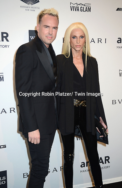 The Blondes attends the amfAR New York Gala on February 5, 2014 at Cipriani Wall Street in New York City.