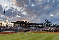 The University of Virginia baseball team play on the field at davenport Stadium in Charlottesville, Va.  Photo/Andrew Shurtleff
