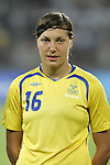 12 August 2008: Linda Forsberg (SWE).  The women's Olympic team of Sweden defeated the women's Olympic soccer team of Canada 2-1 at Beijing Workers' Stadium in Beijing, China in a Group E round-robin match in the Women's Olympic Football competition.