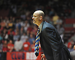 "Ole Miss head coach Andy Kennedy vs. Auburn at the C.M. ""Tad"" Smith Coliseum on Saturday, February 23, 2013. Kennedy became the school's all-time winningest coach."