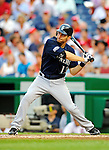 21 June 2011: Seattle Mariners infielder Dustin Ackley in action against the Washington Nationals at Nationals Park in Washington, District of Columbia. The Nationals rallied from a 5-1 deficit, scoring 5 runs in the bottom of the 9th, to defeat the Mariners 6-5 in inter-league play. Mandatory Credit: Ed Wolfstein Photo