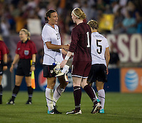 Abby Wambach, Hedvig Lindahl. The USWNT defeated Sweden, 3-0.