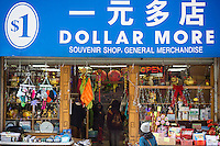 Dollar More store in Chinatown in New York on Friday, January 31, 2014. (© Richard B. Levine)