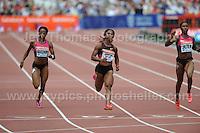 The Women's 100m Hurdles race at the Sainsbury Anniversary Games, Olympic Stadium, London England, Saturday 27th July 2013-Copyright owned by Jeff Thomas Photography-www.jaypics.photoshelter.com-07837 386244. No pictures must be copied or downloaded without the authorisation of the copyright owner.