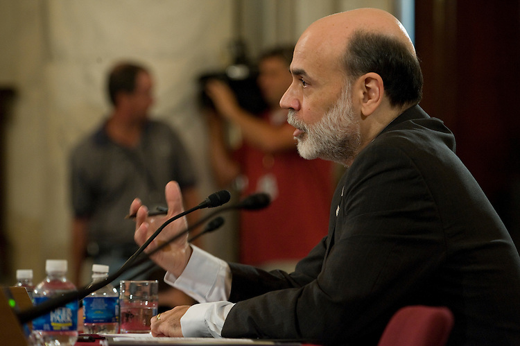 Federal Reserve Board Chairman Ben Bernanke testifies  before the Senate Banking, Housing and Urban Affairs Committee, full committee hearing on the Federal Reserve's semiannual monetary policy report to Congress in the Russell Senate Office Building July 15, 2008.