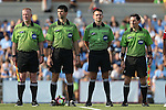 16 September 2016: Match officials. From left: Assistant Referee Scott Bowers, Referee Michael Donovan, Fourth Official Jeremy Smith, and Assistant Referee Eric Usher. The University of North Carolina Tar Heels hosted the North Carolina State University Wolfpack in a 2016 NCAA Division I Women's Soccer match. NC State won the game 1-0.