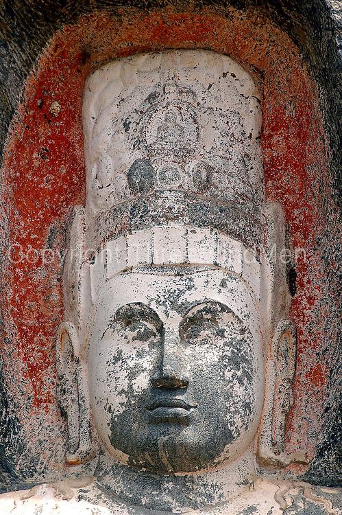 Sri lanka buduruvagala rock carvings