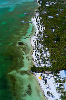 Aerial View, Beaches, Moorings Village and Cheeca Lodge (resorts),  Islamorada Key, Florida Keys, Florida USA