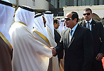A handout picture made available by the Office of the Egyptian President shows the Egyptian President, Abdel Fattah al-Sisi, as he prepares to leave Manama, Bahrain, 31 October 2015. According to reports al-Sisi cut short attendance of the eleventh Manama Dialogue security summit in order to return to Egypt following the crashing of the Kogalymavia Metrojet Russian passenger jet carrying 224 passengers in Sinai. Photo by Egyptian President Office