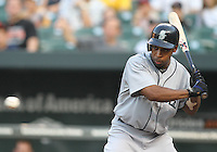 Chone Figgins #9 of the Seattle Mariners during a MLB game against the Baltimore Orioles at Camden Yards, on August 8 2010, in Baltimore, Maryland. Orioles won 5-4.