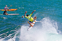 Burleigh Heads, Queensland, Australia (Sunday February 20th 2011). Joel Parkinson (AUS). .Breaka Burleigh Pro - 2011 An International 4-Star Rated $US85,000 Event. DEFENDING event champion Taj Burrow (AUS) spun his way to victory today in the Breaka Burleigh Pro. Run at high tide along the Burleigh rock break. Burrow landed air reverse after air reverse to lock down the win. Joel Parkinson (AUS) in second made a late charge but ran out of time. Bede Durbidge (AUS) was third with Jayke Sharpe (AUS) in his first ever final finishing 4th. . Photo: joliphotos.com