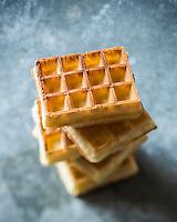 Gastronomie: Gaufre belge // Gastronomy: Belgian waffle - Stylisme : Valérie LHOMME