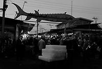 Mahmoudabad, Iran, March 26, 2007.The local fishmarket displays some of the Caspian sea's treasures...