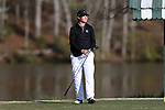 KANNAPOLIS, NC - APRIL 09: South Carolina's Will Miles tees off on the 9th hole. The third round of the Irish Creek Intercollegiate Men's Golf Tournament was held on April 9, 2017, at the The Club at Irish Creek in Kannapolis, NC.