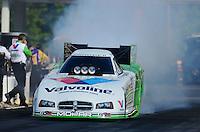 May 4, 2012; Commerce, GA, USA: NHRA funny car driver Jack Beckman during qualifying for the Southern Nationals at Atlanta Dragway. Mandatory Credit: Mark J. Rebilas-