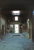 Italy: Pompeii--House of Giulia Felice. Looking back to vestibule.