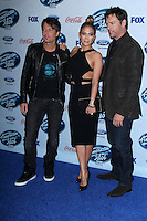 Keith Urban, Jennifer Lopez, Harry Connick Jr.<br /> at the American Idol XIII Finalists Party, Fig &amp; Olive, Los Angeles, CA 02-20-14<br /> David Edwards/DailyCeleb.Com 818-249-4998