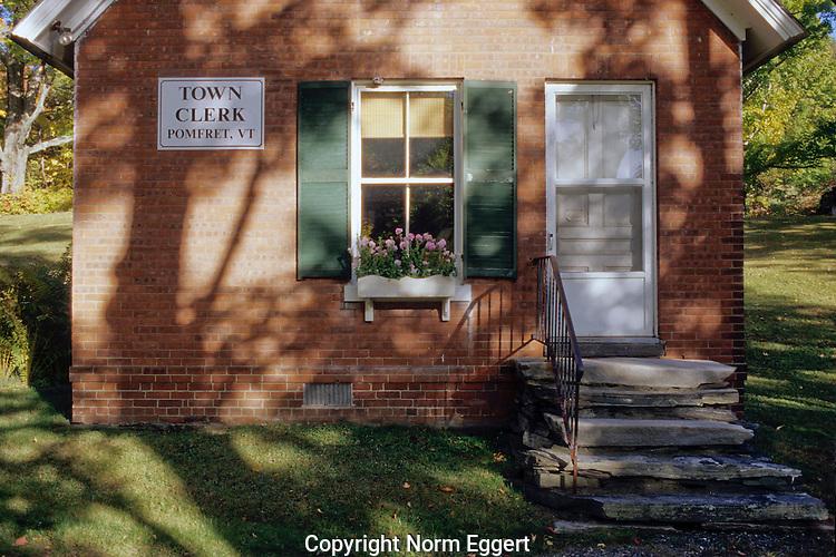 Town clerk's office in Pomfret, Vermont