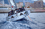 Alex Thomson unveiled the new-look IMOCA 60 Hugo Boss at Monaco.