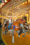 Salem's Riverfront Carousel with kids