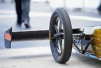 May 6, 2012; Commerce, GA, USA: NHRA top fuel dragster driver Spencer Massey during the Southern Nationals at Atlanta Dragway. Mandatory Credit: Mark J. Rebilas-