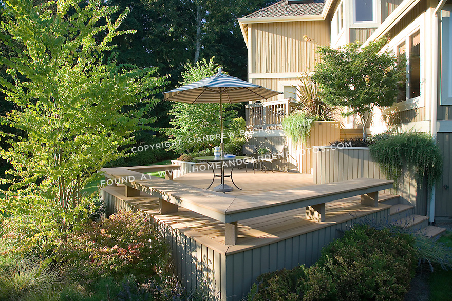 A Sunny Residential Deck Made From Trex Composite Decking