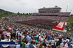 Visitors fill Williams Stadium for Commencement on May 10, 2014, in celebration of Liberty's 41st graduating class.