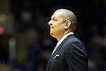 02 November 2013: Duke assistant coach Jeff Capel. The Duke University Blue Devils played the Drury University Panthers in a men's college basketball exhibition game at Cameron Indoor Stadium in Durham, North Carolina. Duke won the game 81-65.
