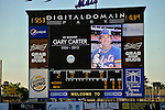 5 March 2012: The New York Mets honored the memory of Hall of Fame catcher Gary Carter with a moment of silence prior to a Spring Training game against the Washington Nationals at Digital Domain Park in Port St. Lucie, Florida. The Nationals defeated the Mets 3-1 in Grapefruit League play. Mandatory Credit: Ed Wolfstein Photo