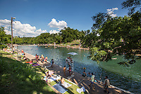 Barton Springs Swimming Pool - underground springs natural limestone pool - Photo Image Gallery