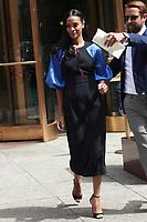 NEW YORK, NY - MAY 4: Zoe Saldana seen on May 4, 2017 in New York City. Credit: DC/Media Punch